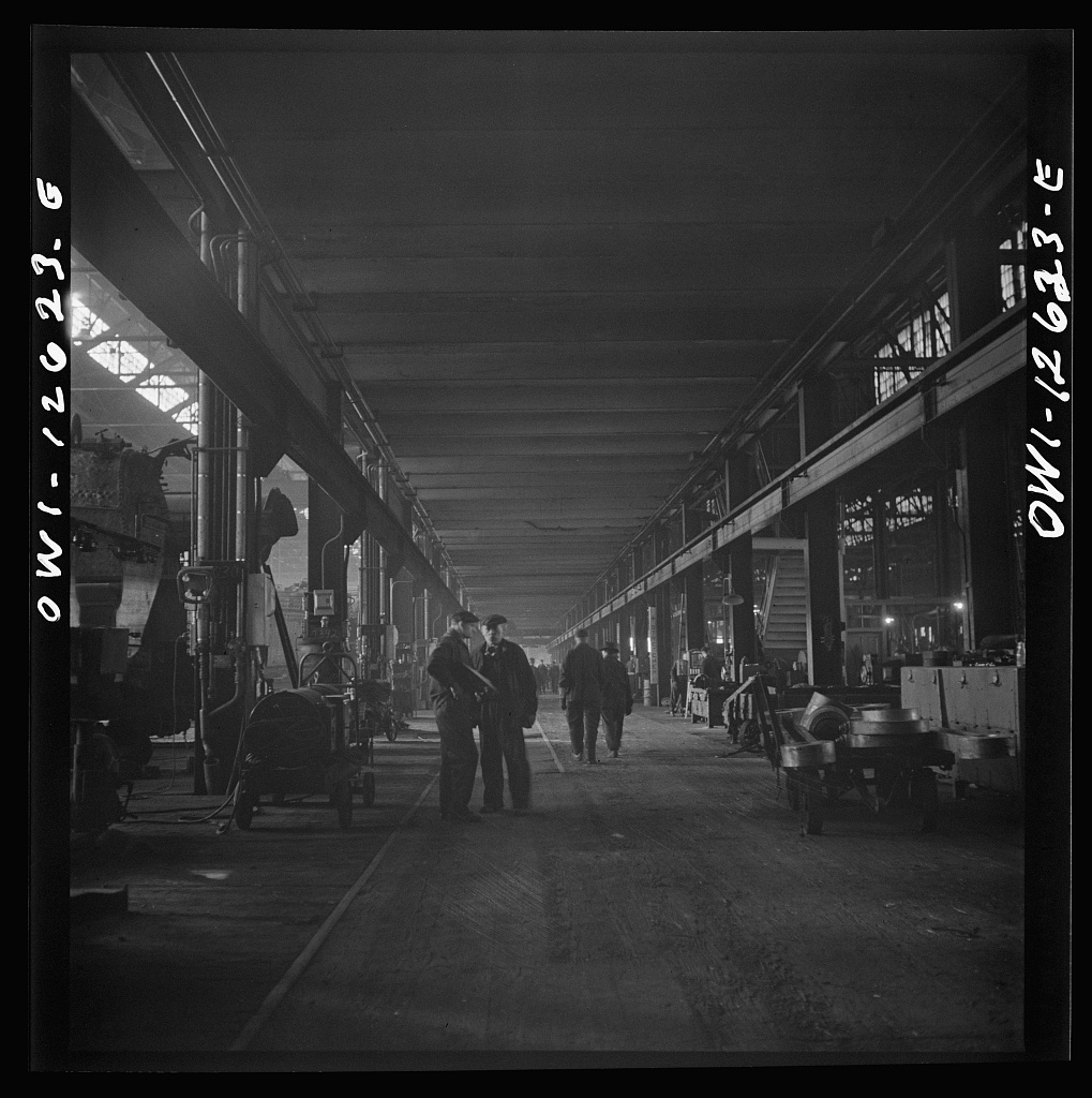 Chicago, Illinois. In a locomotive repair shop of the Chicago and Northwestern Railroad