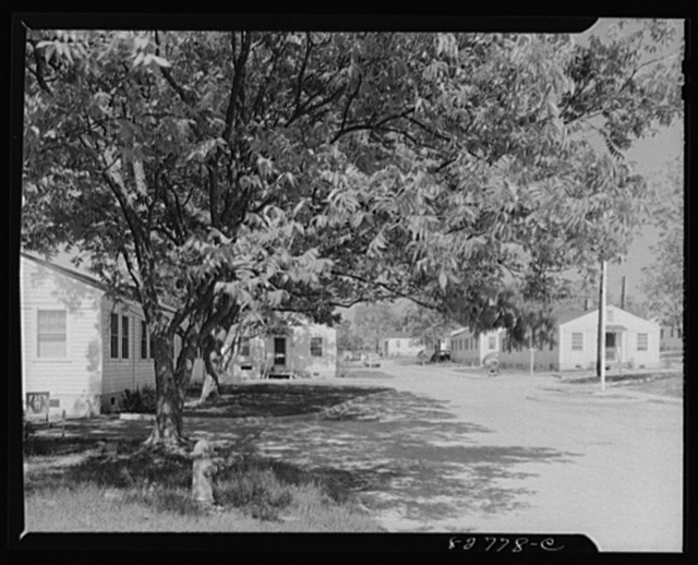 Childersburg, Alabama. Cousa Court defense housing project. Well-planned houses, lawns and shade trees make a pleasant home for Dupont powder plant workers