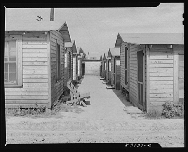 Childersburg. Alabama. Shack village built to accomodate defense workers who each pay thirty to forty dollars a month rental