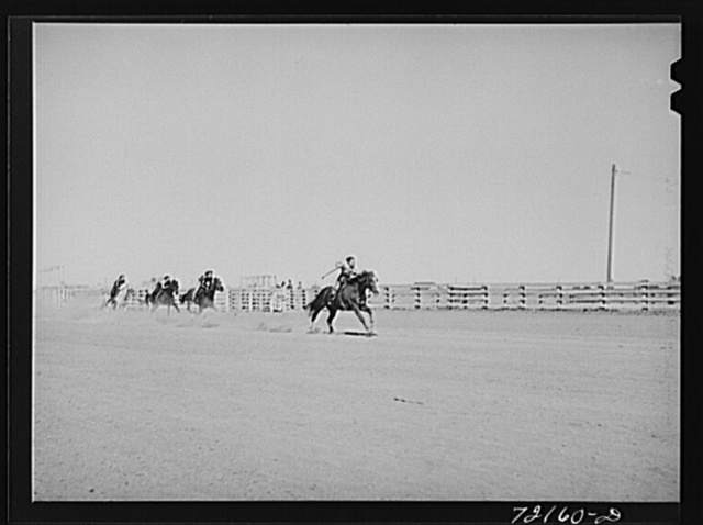 Children's horse race at the Imperial County Fair, California