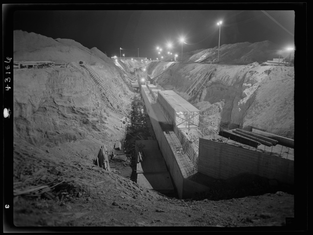 Columbia Steel Company at Geneva, Utah. Constructing a water intake tunnel for a new steel plant which will make important additions to the vast amount of steel needed for the war effort