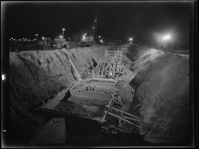 Columbia Steel Company at Geneva, Utah. Excavating and constructing open hearth furnaces for a new steel mill