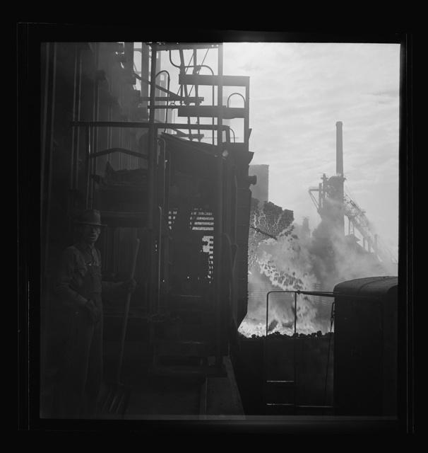 Columbia Steel Company at Ironton, Utah. Discharging coke oven