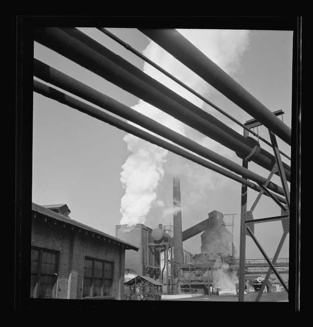 Columbia Steel Company at Ironton, Utah. Exterior view of the blast furnace