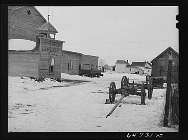 Crosby, North Dakota. Old livery stables