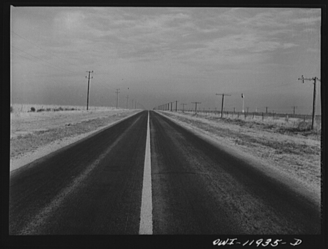 Deaf Smith County, Texas. Panhandle highway