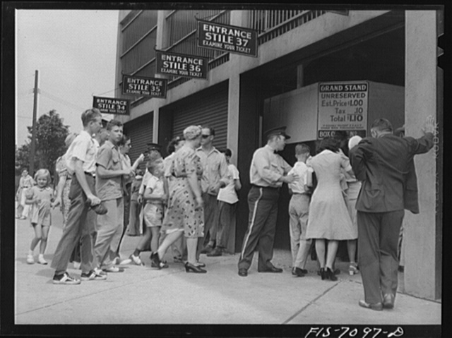 Detroit, Michigan. Buying tickets for the ball game at Briggs Station