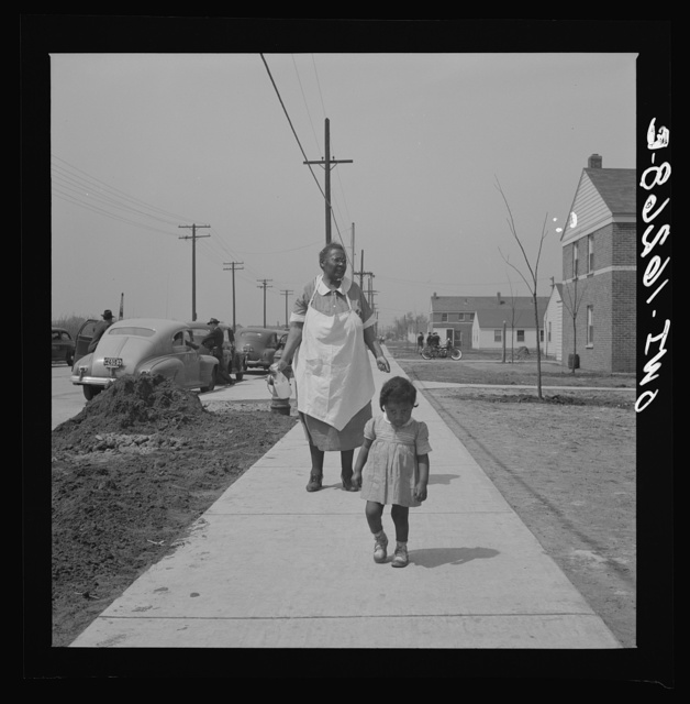 Detroit, Michigan. Negro mother and child at Sojourner Truth homes