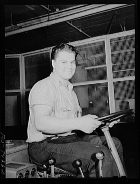 Detroit, Michigan. Truck driver at the Allison Motors plant