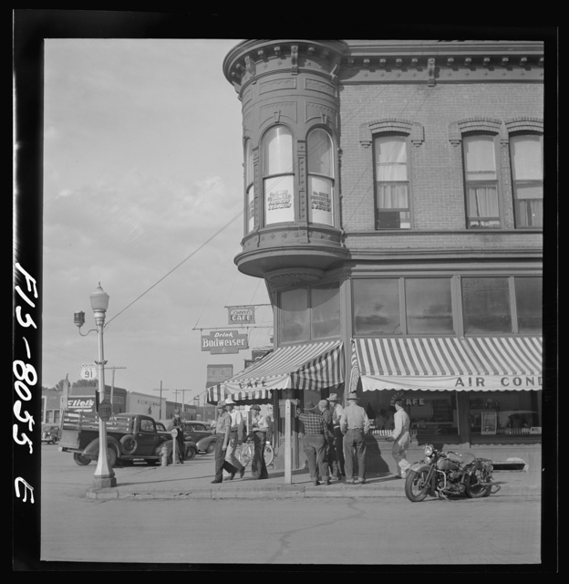 Dillon, Montana. Street corner. Dillon is the trading center for a prosperous cattle and sheep country