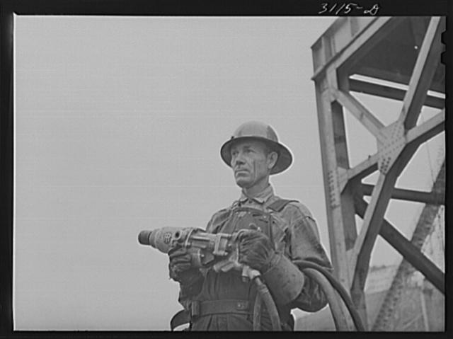 Douglas Dam, Tennessee. Tennessee Valley Authority (TVA). Riveter