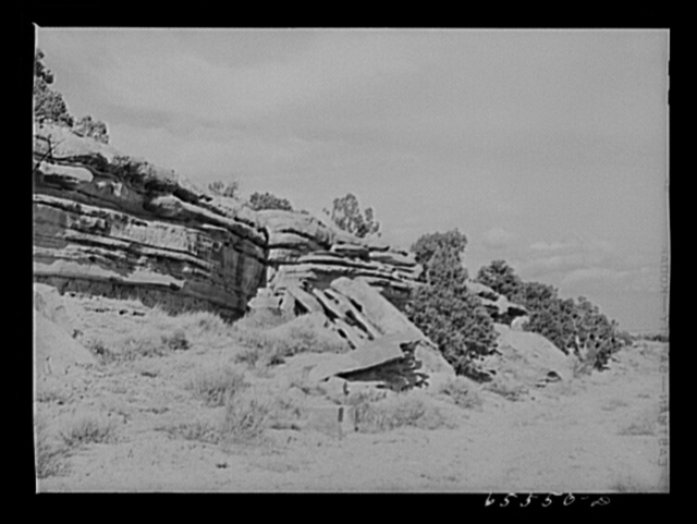 Duchesne County, Utah. Rock formations along the highway
