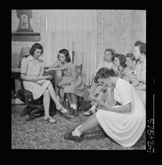 East Montpelier, Vermont. Marilyn, daughter of Charles Ormsbee, is president of her 4-H club, the Montpelier Center Girls, where she learns how to sew and cook economically and well