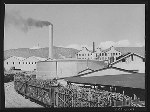 """Ensenada, Puerto Rico. Sugar mill or """"central"""" of the South Puerto Rico Sugar Company"""