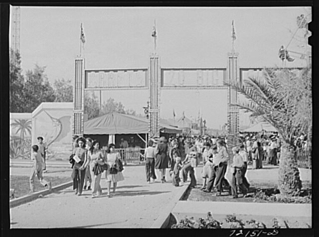 Entrance to the midway at the Imperial County Fair, California
