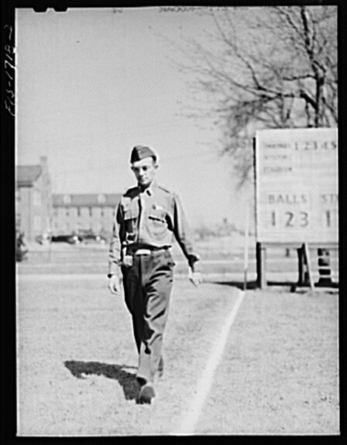 Every chaplain must learn how to pace distances by counting the number of his paces over a measured hundred yard course. U.S. Army chaplain school, Fort Benjamin Harrison, Indiana