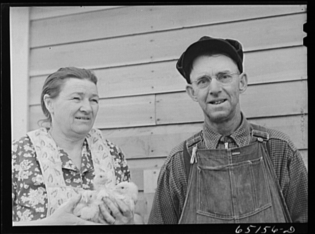 Flathead Valley special area project, Montana. Mr. and Mrs. Albert Ward. They came here from Missouri