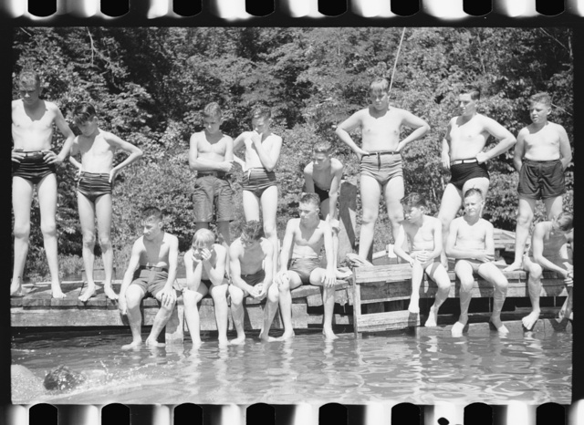 Florence, Alabama (vicinity). Boy Scout camp. At a swimming class