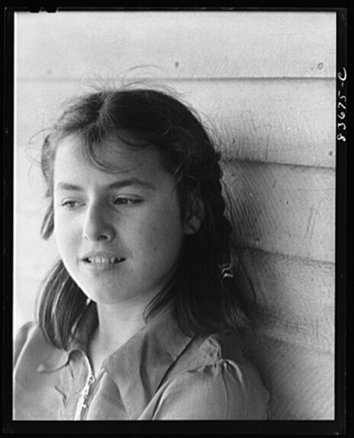 [Fort Kent, Maine (vicinity). Daughter of Leonard Gagnon, Acadia FSA (Farm Security Administration) client]