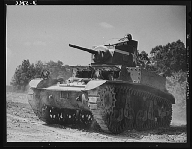 Fort Knox, Kentucky. Light tanks. This light tank, used at Fort Knox, Kentucky, for training and hardening crews for the armored forces, is helping to turn out fighters who will give the Axis some new ideas of what trouble really is