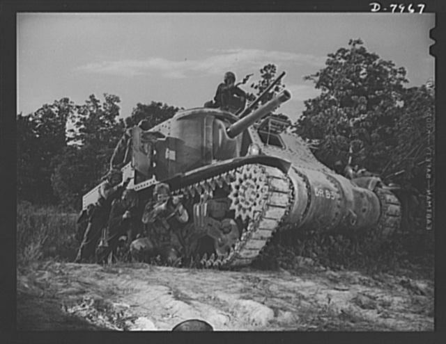 Fort Knox. M-3 tank crews. M-3 tank crew members, in training at Fort Knox, Kentucky, get intensive practice in meeting every situation that may arise on the battlefield. The Fort Knox school for tank crews has graduated many men who are now ready to meet the Axis on our far-flung battle lines and on more than equal terms