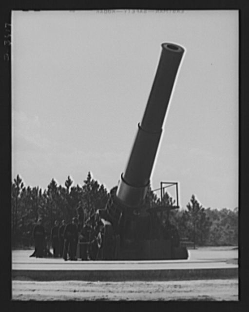 Fort Story coast defense. Men and sixteen-inch guns at Fort Story, Virginia, prepare to resist Axis agression d