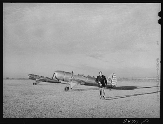 Fort Worth, Texas. Meacham Field. Les Bowman, director of civilian pilot training school