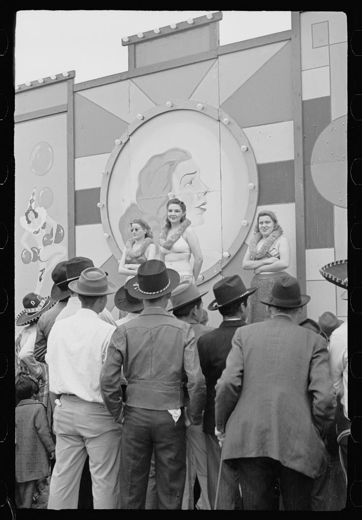 Girlie show, carnival, Brownsville, Texas