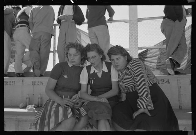 Girls at the Imperial County Fair, California