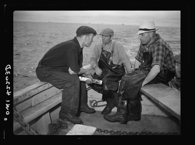 "Gloucester, Massachusetts. Crew members of ""Old Glory"""