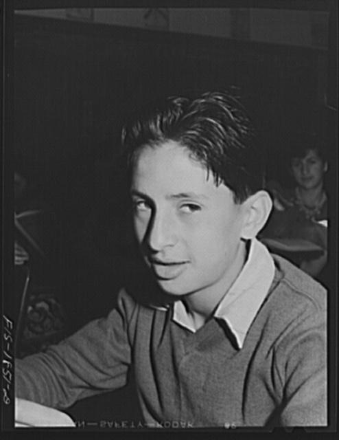 Grade schoolboy of Portuguese descent. San Leandro, California