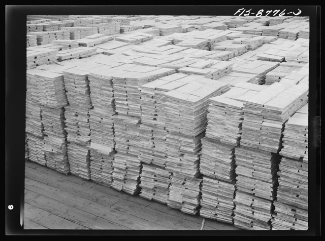 Great Falls, Montana. Zinc plant of the Anaconda Copper Mining Company. Slabs of zinc