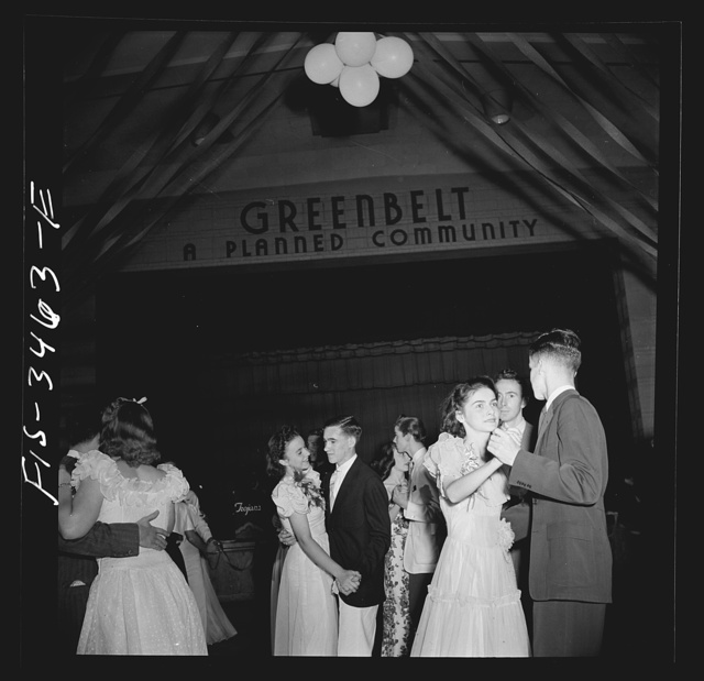 Greenbelt, Maryland. Federal housing project. Senior prom