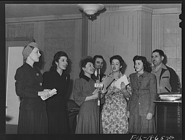 Group of Portuguese who put on a one-hour program daily over station KROW. Oakland, California