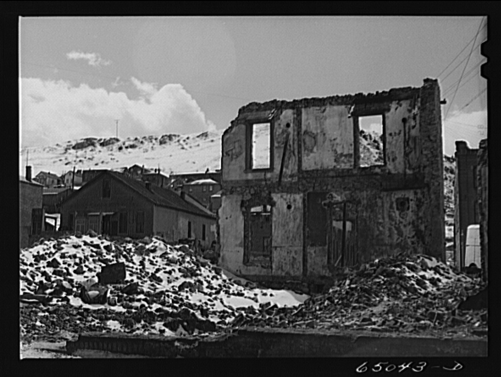 Helena, Montana. Demolition of buildings damaged in 1935 earthquakes