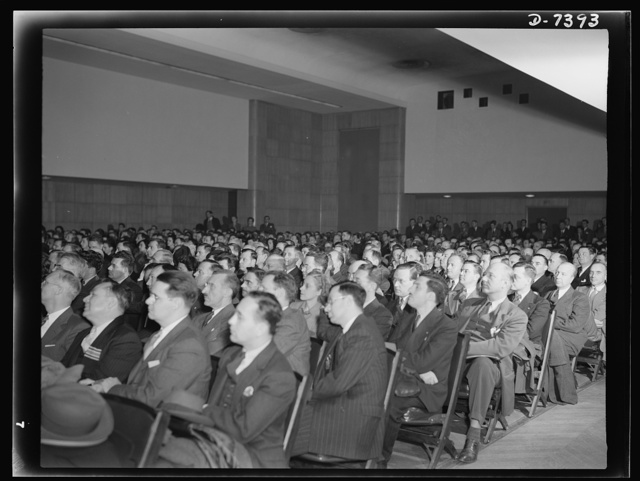 Henderson rally. Office of Price Administration (OPA) training program for price control (first meeting), December 1, 1942. Auditorium, Social Security Building, Washington, D.C.