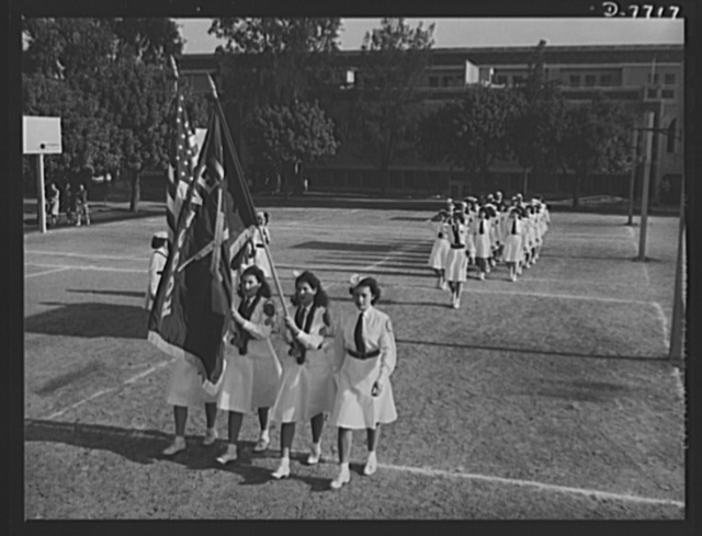 High school Victory Corps. In order to provide training in teamwork, mental and physical coordination and to give opportunites for development of leadership qualities, one of the objectives of the High School Victory Corps is voluntary military drill. These students at Roosevelt High School in Los Angeles, California, belong to the girl's dress team