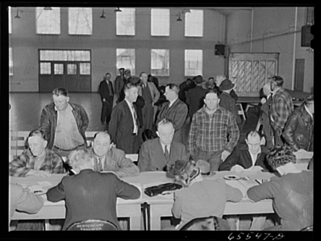 Idaho Falls, Idaho. Selective Service registration for men forty-five to sixty-five