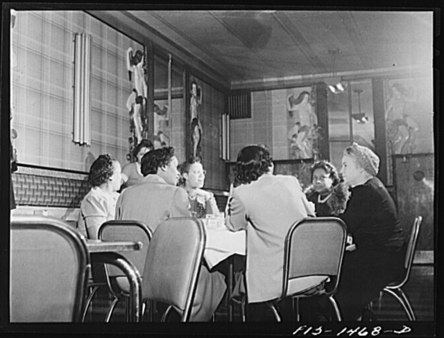In the Perfect Eat Shop, a restaurant on 47th Street near South Park, owned by Mr. E. Norris (Negro). Chicago, Illinois