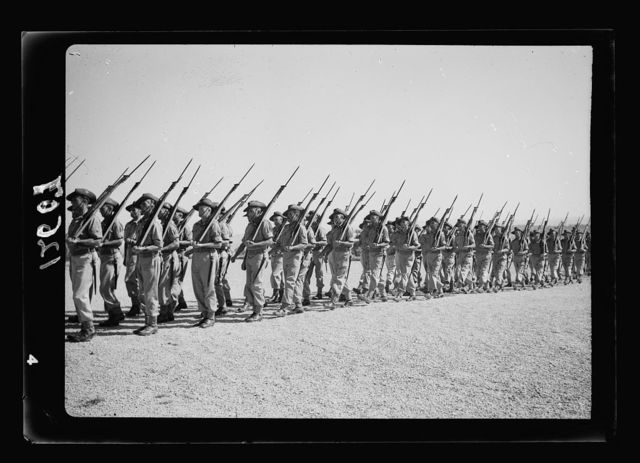 Inspection of Australian Guard of Honour at Government House by the Duke of Gloucester on May 15, 1942. Guard on the march