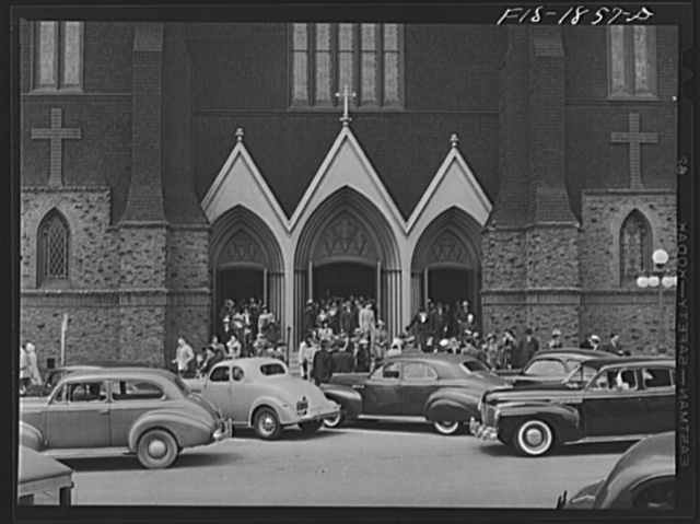 Italian-Catholic church in Oakland, California. Both the Italian and Portuguese people were attracted to the East Bay area because of climate similar to that of their own country and because of the fishing. These people of the two countries have stayed on in the section, becoming a part of every activity: fishing, industry, business and agriculture