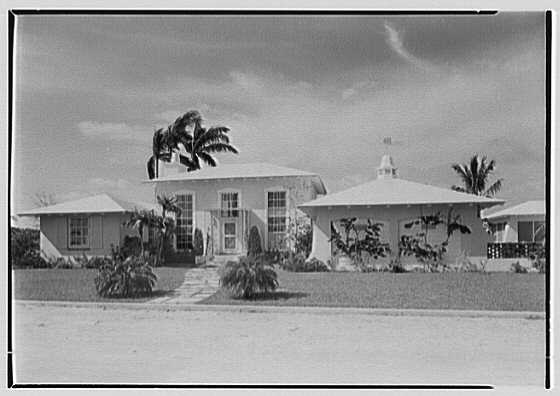 J. Edward Rowe, residence in Fort Lauderdale, Florida. Entrance facade