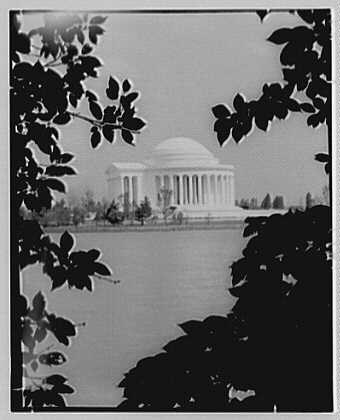 Jefferson Memorial, Washington, D.C. Exterior from west, framed
