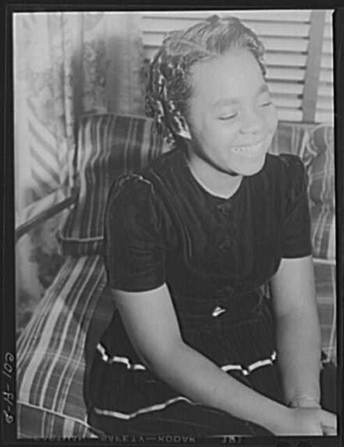 Jelna Carr, age thirteen, mayor of Wellstown and president of the youth government. Ida B. Wells Housing Project, Chicago, Illinois