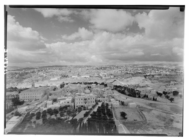 Jerusalem, pan. [i.e., panorama] with cloud effect from Russian Tower