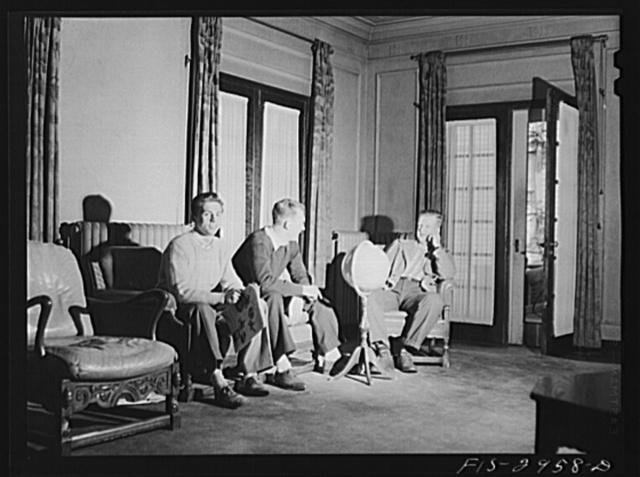 John Cockle, center, at the Beta Theta Pi fraternity house. University of Nebraska, Lincoln