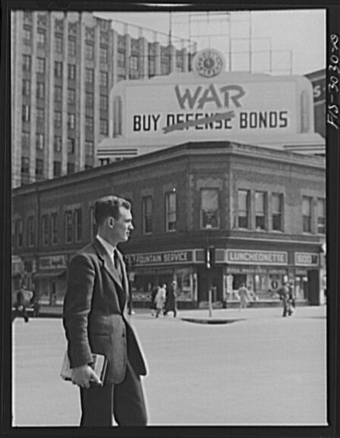 John Cockle on a downtown Lincoln street corner. Nebraska