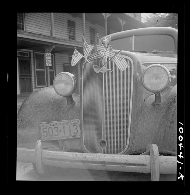 La Plata, Charles County, Maryland. Parked automobile