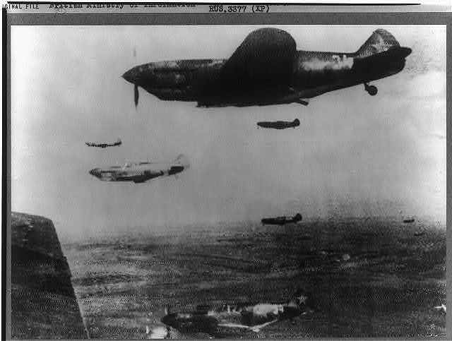Lagg-3 fighters of the Red air force going into action, 1942-43