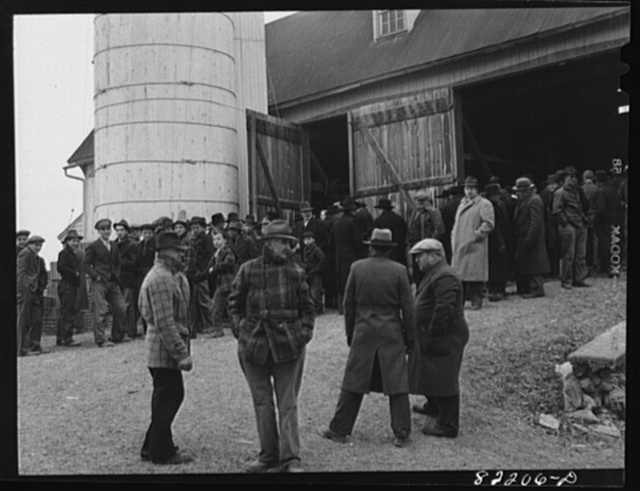 Lancaster County, Pennsylvania. Farm auction